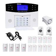danmini LCD wirless GSM / PSTN koti talo toimistoon turvallisuutta varashälyttimen tunkeilija hälytysjärjestelmä