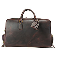 Leather bags men's large capacity European and American retro travel travel leisure first layer leather handbag