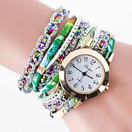 Damskie Zegarek na bransoletce Unikalne Kreatywne Watch Sztuczny Diamant Zegarek Chiński Kwarcowy / PU Pasmo KreatywneCzarny Biały