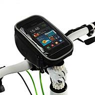 Fahrradtasche 1.2LFahrradlenkertasche Wasserdichter Verschluß Feuchtigkeitsundurchlässig Stoßfest tragbar Tasche für das Rad Polyester PVC