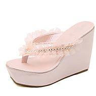 Feminino-Chinelos e flip-flops-Menina Flor Shoes-Anabela--Couro Ecológico-Social