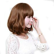 Япония и Южная Корея мода леди короткий пункт поддельные каштан боковые точки челка естественный волна высокой температуры провод парик