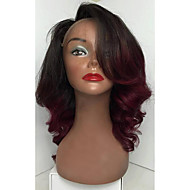 8a ombre 색상 바디 웨이브 레이스 프런트 가발 브라질 처녀 머리 glueless 레이스 프런트 인간의 머리 가발 여자 아기 머리 8-26inch