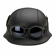 Halvhjelm Hjelm med Briller Motorcykel Hjelme