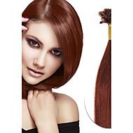 100s 브라질 처녀 진짜 레미 인간의 머리 u 팁 융합 머리 확장 네일 팁 머리 확장 각질 융합