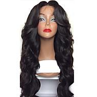 8 silkki alkuun Nyörilliset neitsyt hiuksista peruukit mustia naisia 130% tiheys Brasilian liimattoman silkki alkuun Nyörilliset