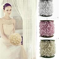 5本/パック釣り糸人工真珠ビーズチェーンの花輪の花の結婚式のパーティーの装飾品の供給
