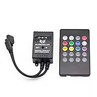Supernight controlador de música infravermelho 20 teclas ir controle remoto controlador de som do sensor para 5050 3528 5630 rgb levou