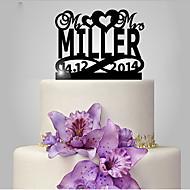 Tortenfiguren & Dekoration individualisiert Klassisches Paar Acryl Hochzeit Jubliläum Brautparty Klassisches Thema OPP
