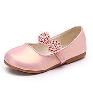 Para Meninas Oxfords Conforto Sapatos para Daminhas de Honra Couro Ecológico Primavera Verão Social Casual Festas & Noite Flor de Cetim