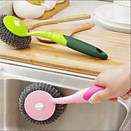איכות גבוהה מטבח חדר מקלחת מסיר מוך ומברשת כלים,מתכת פלסטיק