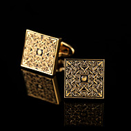 Dugme za manšetu Tie Bar Tie Clip Kamen Moda Poklon kutije i vrećice Mandzsettagombok Zlatna Srebrna 1 par