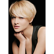Osvježavajuća kratka kosa paperjast ljudska kosa perika elegantna žena kosa