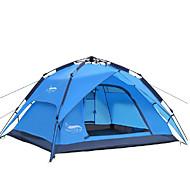3-4 persone Tenda Doppio Tenda automatica Una camera Tenda da campeggio 2000-3000 mm Oxford Impermeabile-Campeggio-Blu
