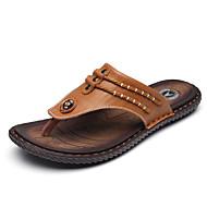 슬리퍼 플립 플롭-캐쥬얼-남성-조명 신발-PU블랙 다크 블루 어두운 무늬