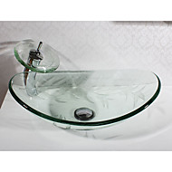 Moderne Rektangulær sink Materiale er Hærdet Glas Badeværelse Håndvask