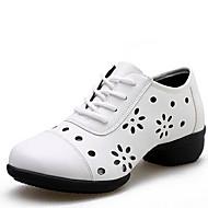 Women's Dance Shoes Leatherette Leatherette Dance Sneakers / Modern Sneakers Low Heel Outdoor White