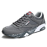Running Shoes Men's Athletic Shoes Spring Summer Fall Winter Comfort PVC Fabric Outdoor Athletic Casual Lace-up Gray Black