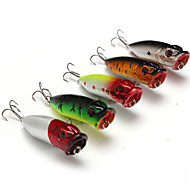 "5 pcs Hard Bait Popper Fishing Lures Hard Bait Popper Lure Packs phantom Multicolored g/Ounce mm/2-3/4"" inch,Hard Plastic PlasticSea"