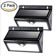 2 Pack Solar Energy 46LED Human Body Sensor Light Low Light Triple Function Section Garden Lamp Corridor Lamp Wall Lamp