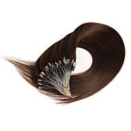 16-calowe mikro pętelki ludzkie włosy przedłużenia proste cabelo humano 0.4g / s ludzkie włosy mikro rozszerzenia pierścieni 100s /