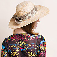 Nature Raffia Straw Hat Headpiece Cotton Fabric Headpiece-Wedding Special Occasion Casual Hats 1 Piece