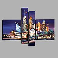 Ručně malované Lidé Horizontálně,Moderní Pět panelů Plátno Hang-malované olejomalba For Home dekorace