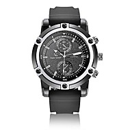V6 Men Surface Matte Texture Double Eyes Double Ring Scale Leather Strap Quartz Watch