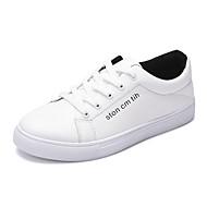 Men's Sneakers Comfort Casual Flat Heel Black White Walking