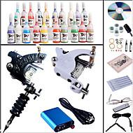 Kompletan Tattoo Kit 2 x čelične tetovaža stroj za obloge i sjenčanje 2 Tattoo Machines Mini napajanje Tinte dostavljaju odvojeno