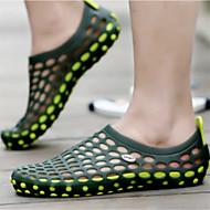 גברים-נעליים ללא שרוכים-PVC-מוקסין-אדום ירוק כחול חום בהיר-שטח יומיומי-עקב שטוח