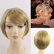 οι μεγάλες γυναίκες Gatsby copslay μαλλιά κοντό μαύρο ξανθό χρώμα δύο επιλογές μόδας θερμότητα για τα μαλλιά ανθεκτικά περούκα μαργαρίτα