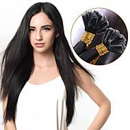 fúziós u tip emberi póthaj # 60 # 60 / rózsaszín világoszöld rózsaszín szürke színes haj 100% brazil szűz haj u tip póthaj