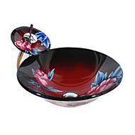 Moderne Rund sink Materiale er Hærdet Glas Badeværelse Håndvask