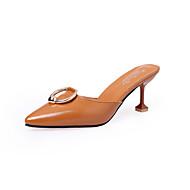 レディース-アウトドア ドレスシューズ カジュアル-レザーレット-スティレットヒール-穴の靴-ヒール-