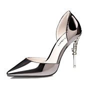 Damen-High Heels-Hochzeit Büro Kleid Party & Festivität-Lackleder-Stöckelabsatz-Club-Schuhe-