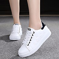 Dames Sneakers Lente Comfortabel PU Casual Wit zwart/wit Licht Roze ホワイトとグリーン