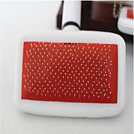 Cat Dog Grooming Health Care Cleaning Brush Comb Low Noise Massage Red