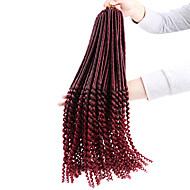Crochet Tresses bouclés Extensions de cheveux Cheveux Tressée
