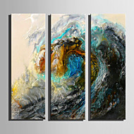 E-HOME Stretched Canvas Art The Color Of The Waves Decoration Painting Set Of 5