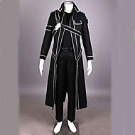Inspirat de Sword Art Online Kirito Anime Costume Cosplay Costume Cosplay 纯色 Manșon LungPantaloni Mănuși Lenjerie de Corp Manta Armură