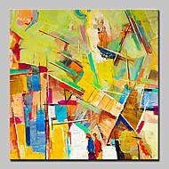 käsinmaalattu abstrakti öljymaalaus kankaalle wallkuva sisustuksessa venytetty runko valmiina ripustaa