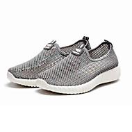 Damen Loafers & Slip-Ons Komfort Tüll Frühling Sommer Normal Walking Komfort Flacher Absatz Schwarz Grau 2,5 - 4,5 cm