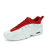 メンズ アスレチック・シューズ コンフォートシューズ カップルの靴 オーダーメイド素材 春 夏 アウトドア カジュアル アスレチック バスケットボール フラットヒール ブラックとホワイト レッド/ホワイト 白/青 フラット