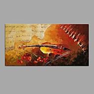 Ručno oslikana Mrtva priroda Horizontalno,Moderna Klasika Jedna ploha Platno Hang oslikana uljanim bojama For Početna Dekoracija