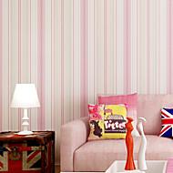 В полоску 3D Обои Для дома Современный Облицовка стен , Нетканые бумаги материал Самоклейки обои , Обои для дома