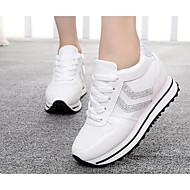 Dames Sneakers PU Lente Wit Zwart Zilver Plat