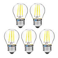 4W LED-hehkulamput G45 4 COB 300 lm Lämmin valkoinen Valkoinen Himmennettävissä V 5 kpl
