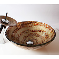 Suvremena Krug Sudoper materijala je Kaljeno staklo Kupaonica Sudoper