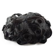 7x9 litt bølge toupee menn hårbit system indian hair menns toupees fine mono parykk erstatning